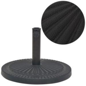 Pood24 ümar päevavarju alus, vaigust, must 14 kg