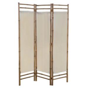 Pood24 kokkupandav 3 paneeliga vahesein, bambus ja lõuend, 120 cm