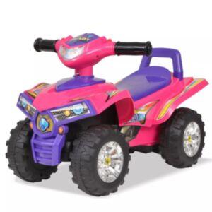 Pood24 laste ATV heli ja valgusega, heleroosa ja lilla