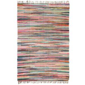Pood24 käsitsi kootud Chindi vaip, puuvill 80 x 160 cm, värviline