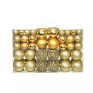 Pood24 100-osaline jõulukuulide komplekt, 6 cm, kuldne