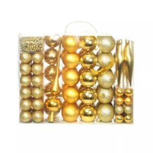 Pood24 113-osaline jõulukuulide komplekt, 6 cm, kuldne