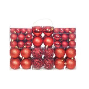 Pood24 100-osaline jõulukuulide komplekt, 6 cm, punane