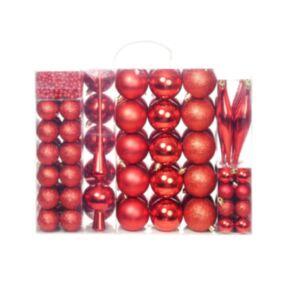 Pood24 113-osaline jõulukuulide komplekt, 6 cm, punane