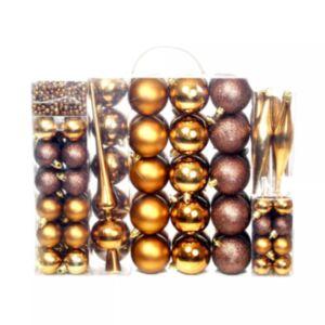 Pood24 113-osaline jõulukuulide komplekt, 6 cm, pruun/pronksjas/kuldne