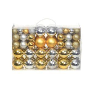 Jõulukuulid 100 tk, hõbedane/kuldne