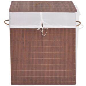 Pood24 bambusest pesukorv ristkülikukujuline, pruun