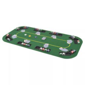 Pood24 kokkupandav pokkerilaud 8 mängijale, kandiline, roheline