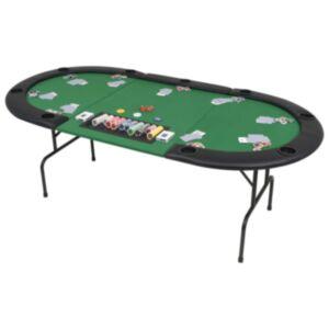 Pood24 kokkupandav pokkerilaud 9 mängijale, ovaalne, roheline