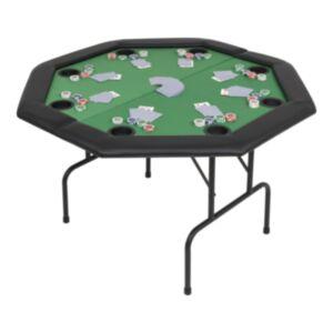 Pood24 kokkupandav pokkerilaud 8 mängijale, kaheksanurkne, roheline