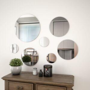 Pood24 7-osaline seinapeegli komplekt, ümmargune, klaasist