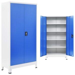 Pood24 kontorikapp, metall, 90 x 40 x 180 cm, hall ja sinine