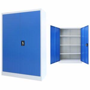 Pood24 kontorikapp, metall, 90 x 40 x 140 cm, hall ja sinine