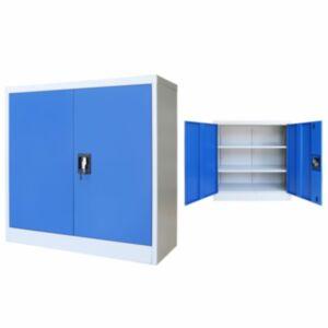 Pood24 kontorikapp, metall, 90 x 40 x 90 cm, hall ja sinine
