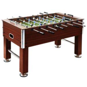 Pood24 lauajalgpalli laud, teras, 140 x 74,5 x 87,5 cm, 60 kg, pruun