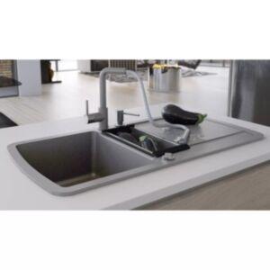 Pood24 kahepoolne köögivalamu, graniit, hall