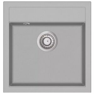 Pood24 ühepoolne köögivalamu, graniit, hall