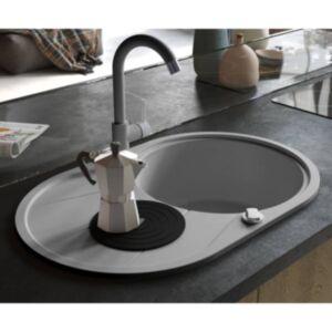 Pood24 ühepoolne köögivalamu, graniit, ovaalne, hall