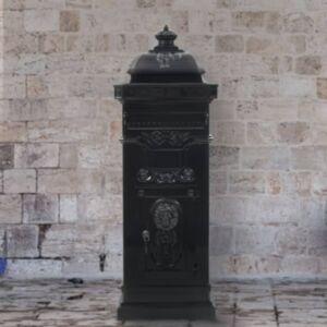 Pood24 sambakujuline vanaaegne postkast, roostekindel, must