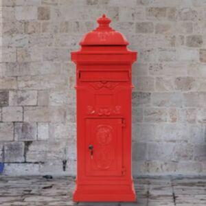 Pood24 sambakujuline vanaaegne postkast, roostekindel, punane