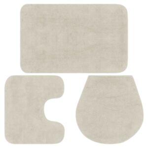 Pood24 vannitoamattide komplekt, 3-osaline, kangas, valge