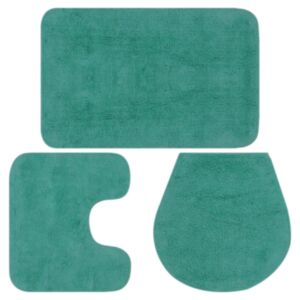 Pood24 3-osaline vannitoamattide komplekt, kangas, türkiissinine