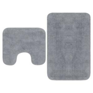 Pood24 vannitoamattide komplekt, 2-osaline, kangas, hall