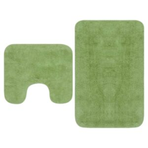 Pood24 vannitoamattide komplekt, 2-osaline, kangas, roheline