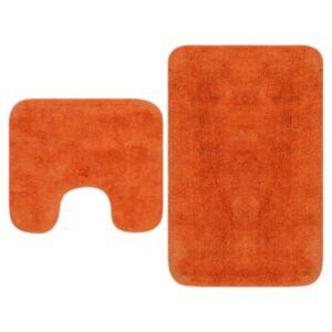 Pood24 2-osaline vannitoamattide komplekt, kangas, oranž