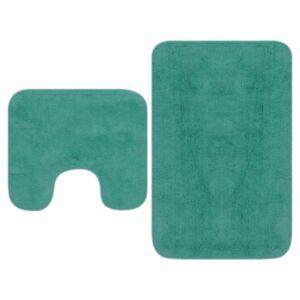 Pood24 2-osaline vannitoamattide komplekt, kangas, türkiissinine