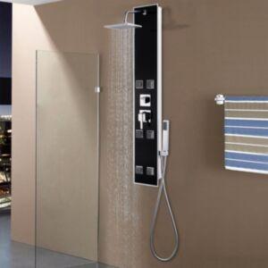 Pood24 dušipaneeli süsteem, klaas, 18 x 42,1 x 120 cm, must