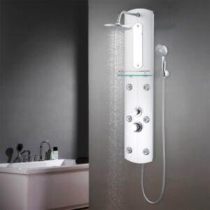 Pood24 dušipaneeeli süsteem, 25 x 43 x 120 cm, hõbedane