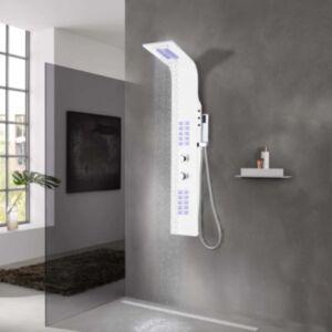 Pood24 dušipaneel, alumiiniumist, 20 x 44 x 130 cm, valge