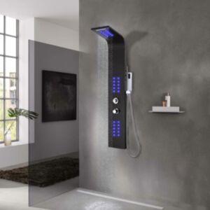 Pood24 dušipaneel, alumiiniumist, 20 x 44 x 130 cm, must
