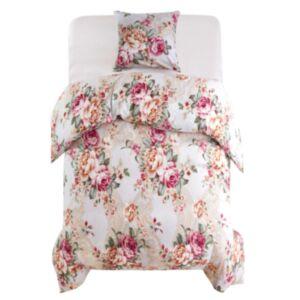 Pood24 voodipesu, 2 osa lilleline 155 x 200/80 x 80 cm värviline