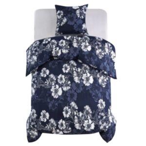 Pood24 voodipesu, 2 osa lilleline 155 x 200/80 x 80 cm sinine