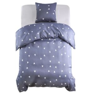 Pood24 voodipesu, 2 osa, kolmnurgad, 155 x 200/80 x 80 cm, hall