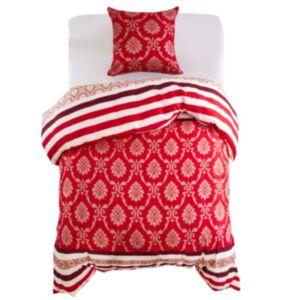 Pood24 voodipesu, 2 osa, triibuline, 155 x 220/80 x 80 cm punane