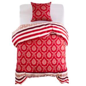 Pood24 voodipesu, triibuline, punane 140 x 200/60 x 70 cm