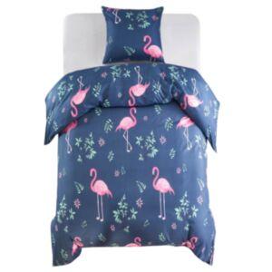 Pood24 tekikott, flamingo, tumesinine/roosa 155 x 220/80 x 80 cm