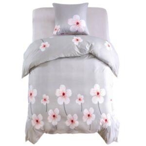 Pood24 voodipesu, 2 osa, lilleline, 140 x 200/60 x 70 cm, beež