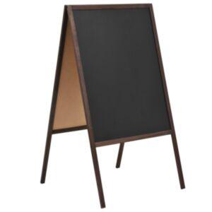 Pood24 kahepoolne tahvel, seedripuu, iseseisev, 60 x 80 cm