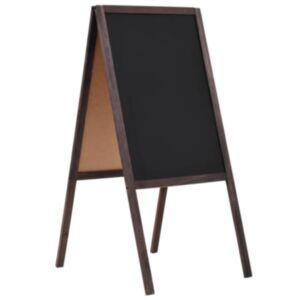 Pood24 kahepoolne tahvel, seedripuu, iseseisev, 40 x 60 cm