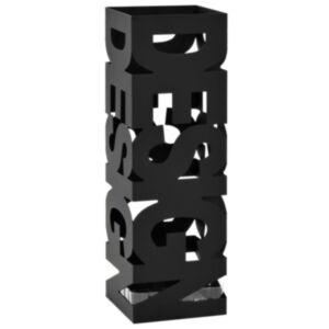 Pood24 vihmavarjuhoidja, Design, terasest, must