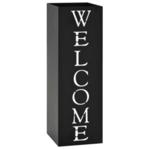 Pood24 vihmavarjuhoidja, Welcome, terasest, must