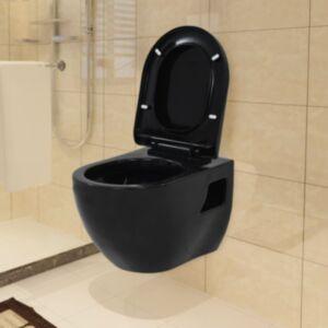 Pood24 seinale kinnitatav must keraamiline tualettpott