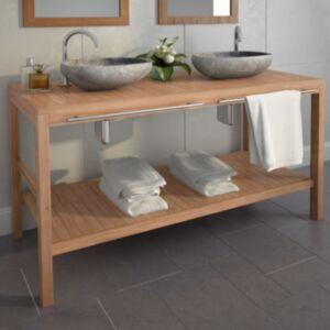 Pood24 vannitoakapp tugevast tiikpuust, 132 x 45 x 75 cm