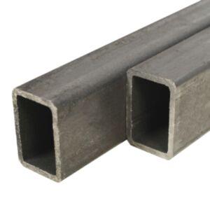 Pood24 kandilised terasest torud, 2 tk, 1 m, 60 x 30 x 2 mm