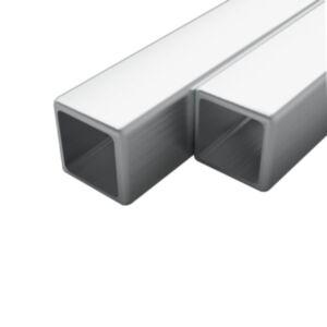Pood24 2 tk roostevabast terasest torud kandilised V2A 1 m 15x15x1,5mm