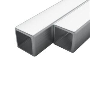 Pood24 2 tk roostevabast terasest torud kandilised V2A 2 m 15x15x1,5mm